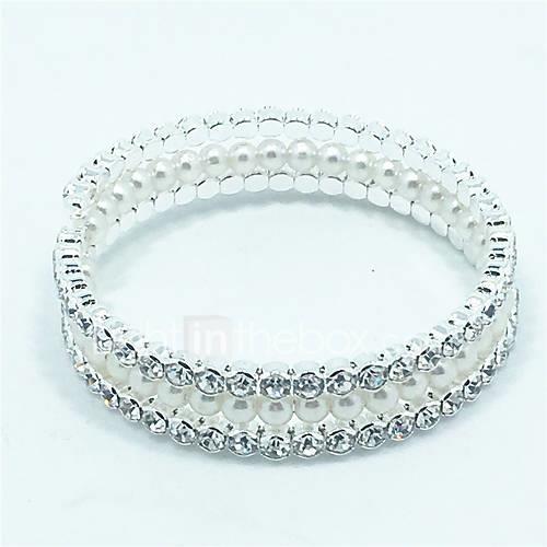 Women's Charm Bracelet Bangles Wrap Bracelet Tennis Bracelet Pearl Zircon Jewelry Christmas Gifts Wedding Party