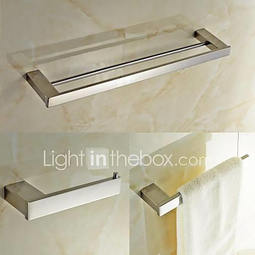 Bathroom Accessory Set Contemporary Stainless Steel Stainless Steel