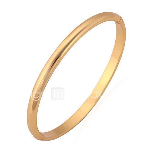 Women's Bangles / Bracelet - Platinum Plated, Gold Plated Basic, Simple Style Bracelet Silver / Golden For Wedding / Party / Birthday