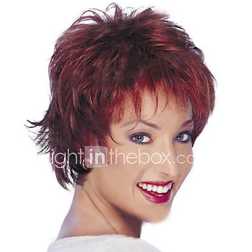 Synthetic Wig Straight Layered Haircut Synthetic Hair Natural Hairline Red Wig Women's Short Natural Wigs / Halloween Wig Capless