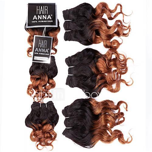 Classic Loose Wave Brazilian Human Hair Weaves Hair Extensions 0.105kgDaily Classic Loose Wave High Quality