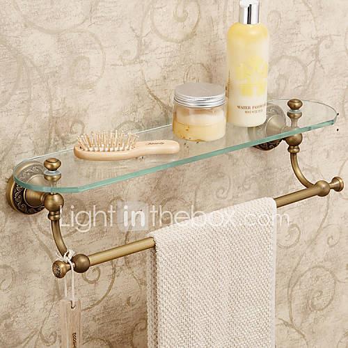 Bathroom Shelf / Antique Brass Brass /Antique