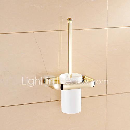 Toilet Brush Holder Bathroom Gadget / Ti-PVD Brass /Neoclassical