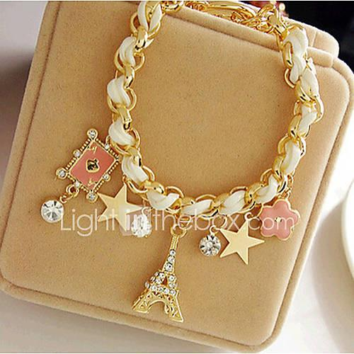 Charm Bracelet Cute Party Leather Alloy Tower Crown Star Jewelry