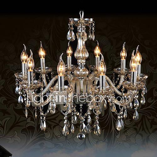 Ecolight™ Traditional / Classic Chandelier Ambient Light - Crystal, 110-120V 220-240V Bulb Not Included