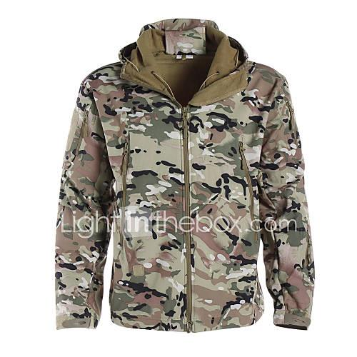 Camouflage Hunting Jacket Men's Women's Unisex Waterproof Ultraviolet Resistant Dust Proof Breathable Camouflage Classic Winter Jacket
