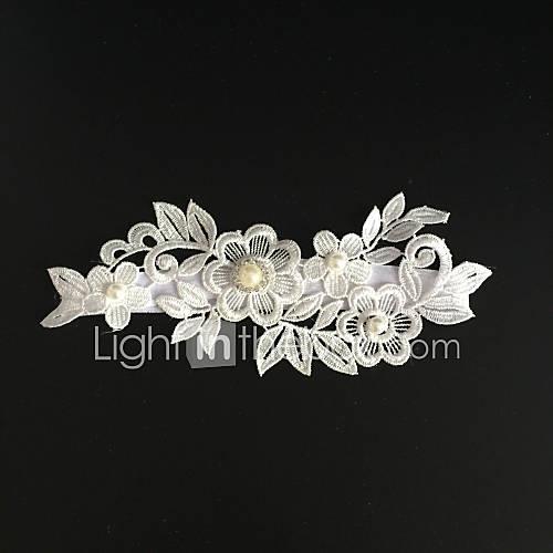 Stretch Satin Fashion Wedding Garter with Rhinestone Flower Garters