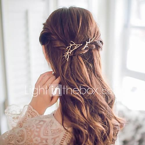 Women's Alloy Hair Clip, Simple Cute Korean Office/career Casual/Sporty Romantic Golden