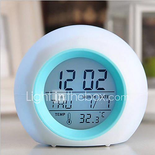 Digital LED Glowing Change Clock Alarm Thermometer With Nature Sound