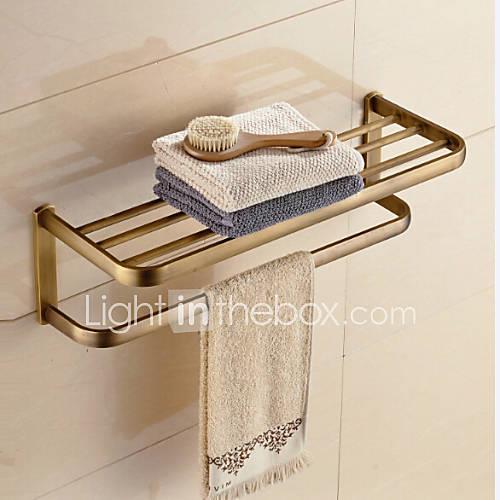 Bathroom Shelf / Antique Brass Brass /Contemporary
