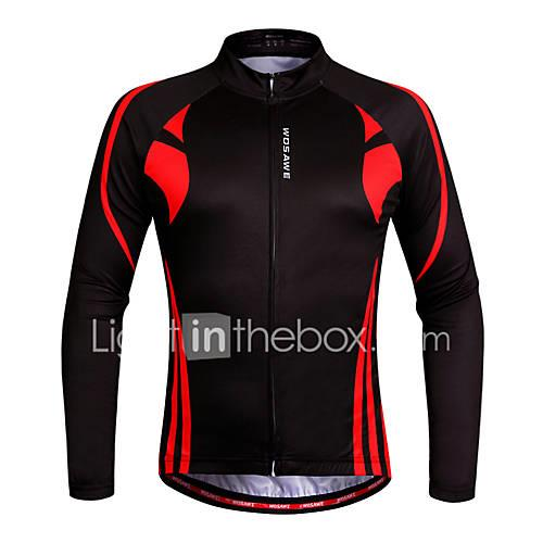 WOSAWE Women's Long Sleeve Cycling Jersey Bike Jersey, Quick Dry, Anatomic Design, Breathable
