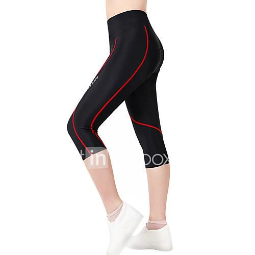 WOSAWE Women's / Unisex Cycling Padded Shorts Bike Shorts / 3/4 Tights / Bottoms 3D Pad, Quick Dry, Anatomic Design Polyester, Spandex
