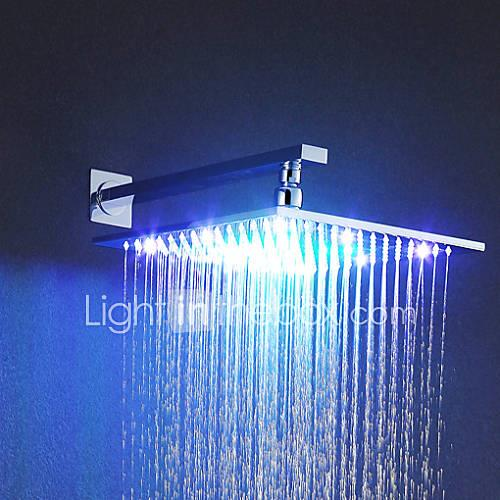 Contemporary Rain Shower Chrome Feature - Rainfall LED, Shower Head