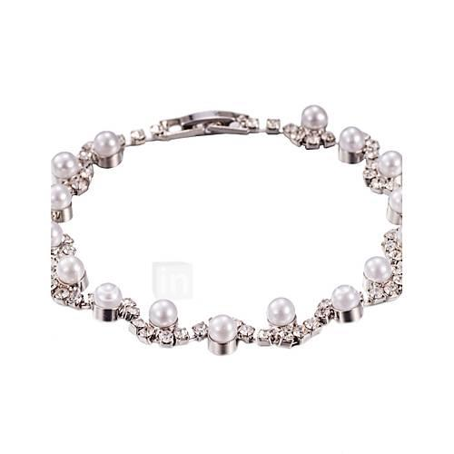Women's - Strand Tennis Silver Bracelet For Wedding Party Anniversary Daily Casual