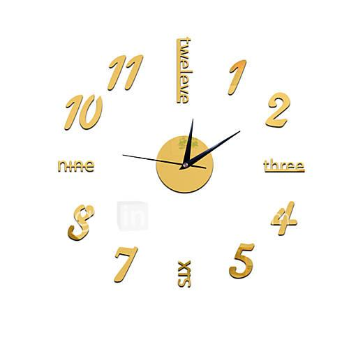 Casual Modern/Contemporary Office/Business Plastic Round Indoor,AA Wall Clock