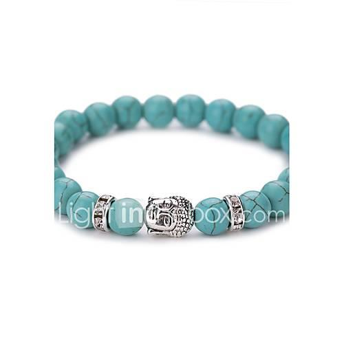Turquoise Bead Bracelet Turquoise Aquarius Ladies Vintage Fashion Birthstones Bracelet Jewelry Silver / Golden For Party Daily Casual