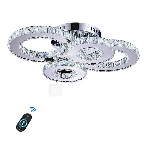 Flush Mount Lights Ambient Light Others Metal Crystal, LED 110-120V / 220-240V Yellow / White / Dimmable With Remote Control