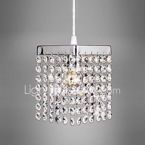 CXYlight Mini Pendant Light Ambient Light Electroplated Metal Crystal, Mini Style, LED 110-120V / 220-240V Bulb Not Included / E12 / E14