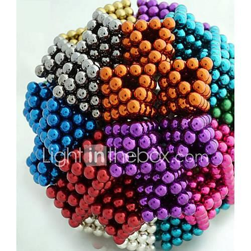 216/512/1000 pcs 5mm Magnet Toy Magnetic Balls Building Blocks Super Strong Rare-Earth Magnets Neodymium Magnet Stress and Anxiety Relief Office Desk Toys DIY Kid's / Adults' / Children's Boys' Girls'