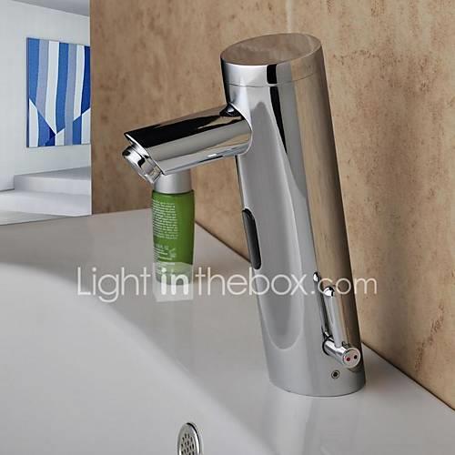 Bathroom Sink Faucet - Sensor Chrome Centerset Hands free One HoleBath Taps