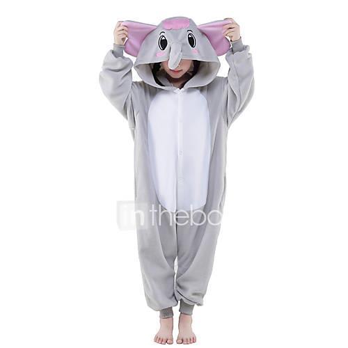 Kid's Kigurumi Pajamas Elephant Animal Onesie Pajamas Polar Fleece Gray Cosplay For Boys and Girls Animal Sleepwear Cartoon Festival / Holiday Costumes