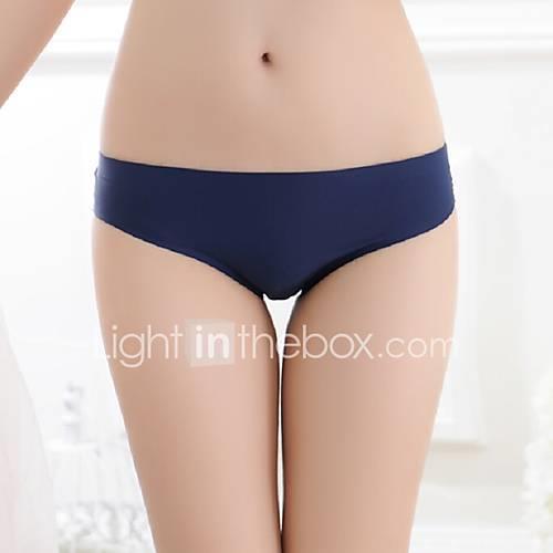 Women's Shorties  Boyshorts Panties Solid Colored Mid Waist
