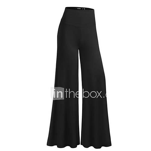 Women's Maternity Wide Leg / Business Pants - Solid Colored Black
