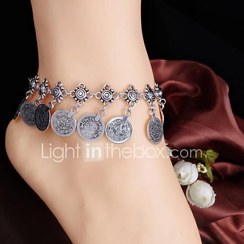 Women's Anklet Unique Design Tassel Fashion Anklet Jewelry Silver / Golden For Daily Casual