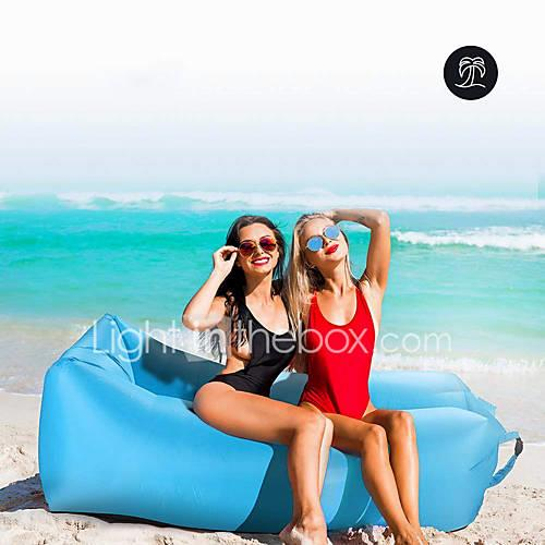 Lazy Sofa Inflatable Sofa Waterproof Ultra Light (UL) Nylon Nylon Hiking Beach Camping Indoor Outdoor Traveling