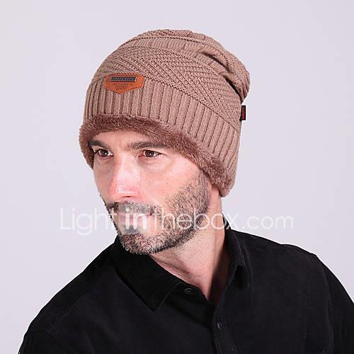 Ski Hat Men's / Women's Keep Warm / Thermal / Warm Snowboard Wool Solid Color Winter Sports