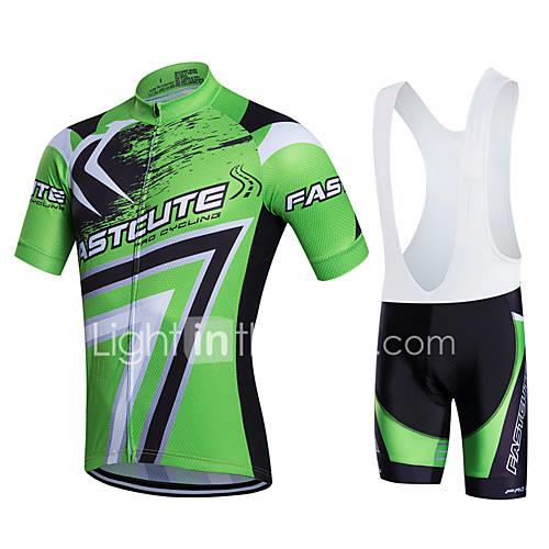 Fastcute Cycling Jersey with Bib Shorts Men's Women's Unisex Short Sleeves Bike Clothing Suits Bike Wear Quick Dry Moisture Permeability