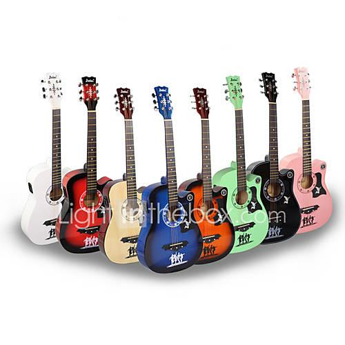 Professional Guitar 38 Inch Guitar Wood for Beginner Colorful Musical Instrument Accessories