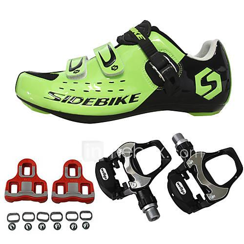 BOODUN/SIDEBIKE Sneakers Road Bike Shoes With Pedal  Cleats Unisex Cushioning Outdoor Road Bike PU Breathable Mesh Cycling