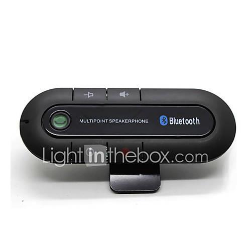 Bluetooth Car Kit Wireless Bluetooth Slim Magnetic Handsfree Car Kit Speaker Phone Visor Clip Bluetooth Aux High Quality
