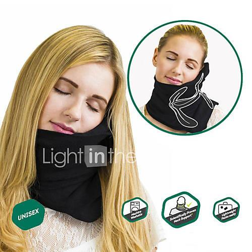Travel Pillow Traveling Sponge Fleece Cotton Portable Foldable Adjustable Relieve neck and shoulder pain Neck Support Machine Washable