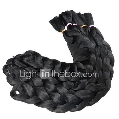 Braiding Hair Box Braids Jumbo 100% kanekalon hair / Kanekalon 3 Roots Hair Braids Ombre Braiding Hair