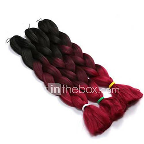 Box Braids Ombre Braiding Hair 100% kanekalon hair Jumbo Hair Braids