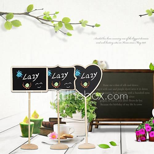Wood Place Cards Table Number Cards Standing Style Poly Bag 12