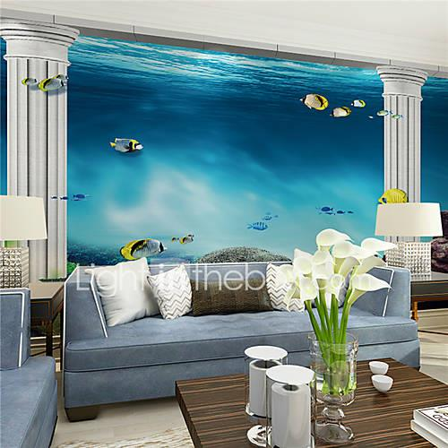 Art Deco Home Decoration Contemporary Wall Covering, Canvas Material Adhesive required Mural, Room Wallcovering