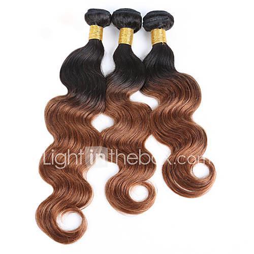 3 Bundles 150g Brazilian Hair Body Wave Virgin Human Hair Natural Black Human Hair Weaves / Hair Bulk 8-30 inch Hot Sale / Shedding Free / Double Weft Human Hair Extensions