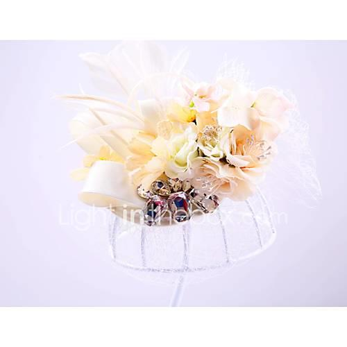 Tulle / Rhinestone / Net Hats with 1 Wedding / Special Occasion / Outdoor Headpiece