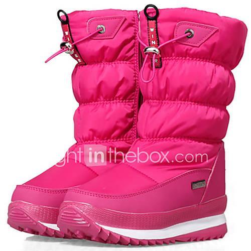 Children's Girls' Unisex Boys' Winter Boots Cowsuede Leather Nylon Ski / Snowboard Downhill Anti-Slip Waterproof Height Increasing Winter