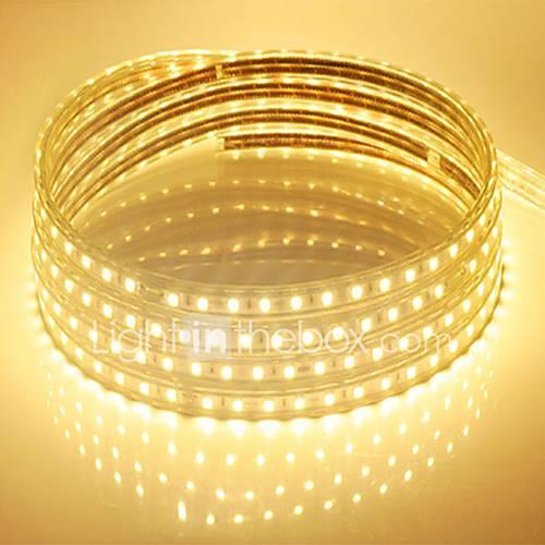 10M  220V Higt Bright LED Light Strip Flexible 5050 600SMD Three Crystal Waterproof Light Bar Garden Lights with EU Power Plug