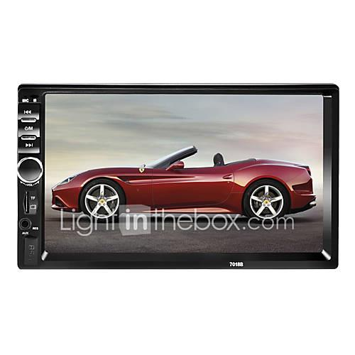 7018 7 inch 2 DIN Windows CE 6.0 In-Dash Car DVD Player for universal / Universal Support / Mp4 / TF Card