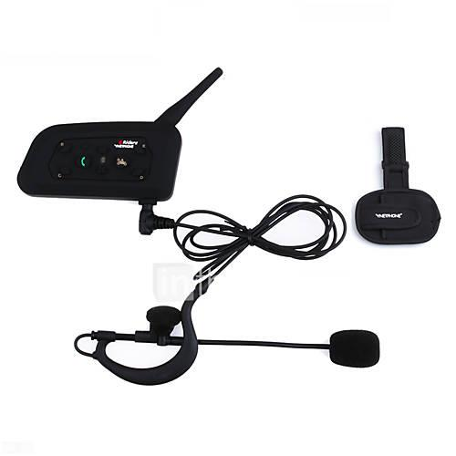 1PCS Football Referee Intercom Headset Vnetphone V4C 1200M Full Duplex Bluetooth Interphone with FM for 4 Users Referee Interphone