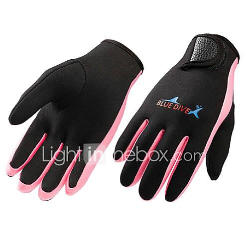 Bluedive Fishing Gloves / Sports Gloves / Diving Gloves 1.5mm Neoprene / Nylon Full finger Gloves Keep Warm, Quick Dry, Tactical Diving /