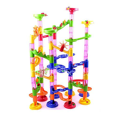 Building Blocks Board Game Marble Track Set Marble Run Toys Novelty Cylindrical ABS High Quality 105 Pieces Girls' Boys' Christmas New
