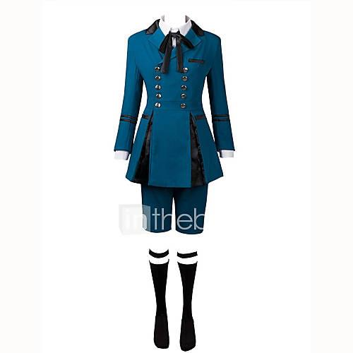 Inspired by Black Butler Ciel Phantomhive Anime Cosplay Costumes Cosplay Suits Solid Long Sleeves Cravat Shirt Top Bow Shorts For Men's