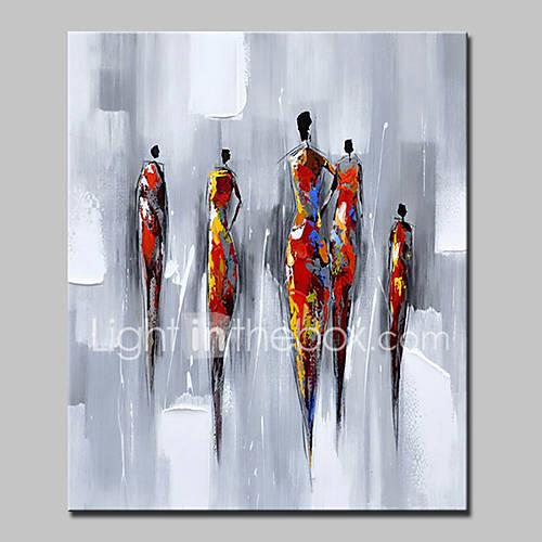 Hand Painted Modern Abstract People Oil Painting On Canvas Wall Art Picture For Wall Decoration Ready To Hang