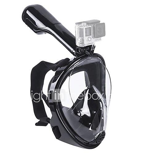 Snorkel Mask Diving Mask Leak-Proof 180 Degree View Full Face Mask Swimming Diving Silicone